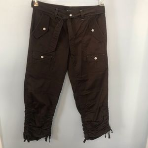INC Ruched, Belted Cargo Pants